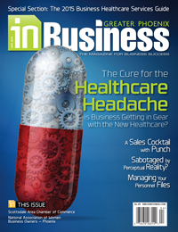 April 2015 In Business Magazine Cover