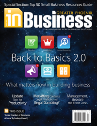 July 2015 In Business Magazine Cover