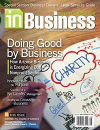 August 2015 In Business Magazine Cover