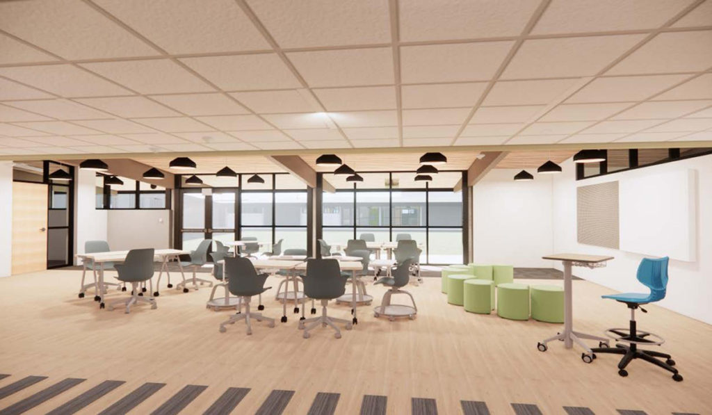 CHASSE Rendering of a redesigned classroom