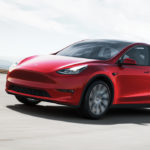 2021 Red Tesla Model Y Exterior