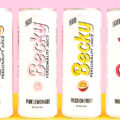 Four cans of Becky with a variety of flavors