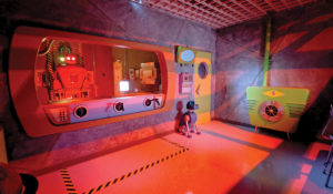 Inside the a room of the Nemesis-Club