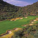 Looking down at whole at Quintero-Golf-Club