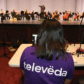 Televeda worker at a symphony