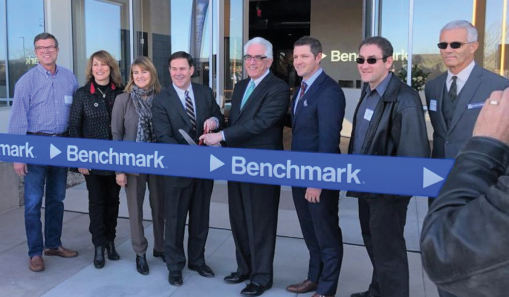 Ribbon cutting for the opening of Benchmark